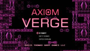 Axiom Verge Start Screen