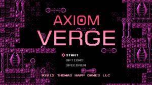 Axiom Verge Start Screen
