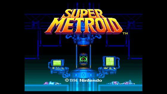 Super Metroid Start Screen