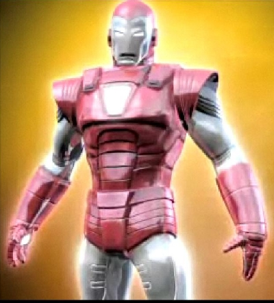"Allow me to geek out for a moment. This would be the Iron Man ""Silver Centurion"" Armor"
